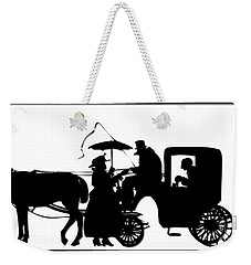 Horse And Carriage Silhouette Weekender Tote Bag