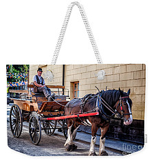 Horse And Cart Weekender Tote Bag by Adrian Evans