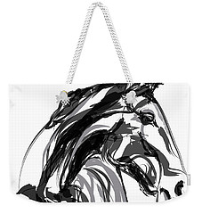 Horse- Apple -digi - Black And White Weekender Tote Bag