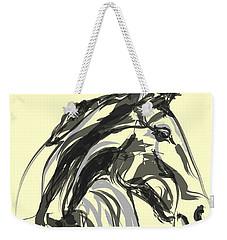 Weekender Tote Bag featuring the painting horse - Apple digital by Go Van Kampen