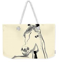 Weekender Tote Bag featuring the painting Horse - Arab by Go Van Kampen