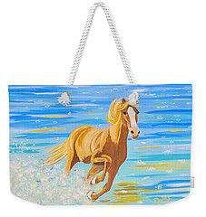 Weekender Tote Bag featuring the painting Horse Bright by Phyllis Kaltenbach
