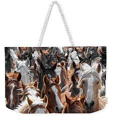 Horse Faces Weekender Tote Bag