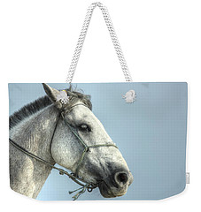Weekender Tote Bag featuring the photograph Horse Head-shot by Eti Reid