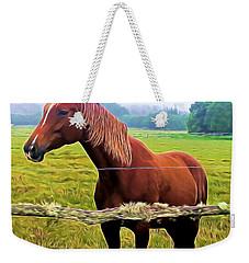 Horse In The Pasture Weekender Tote Bag