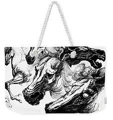 Horse Ink Drawing  Weekender Tote Bag