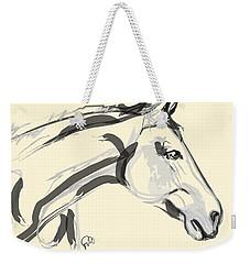 Weekender Tote Bag featuring the painting Horse - Lovely by Go Van Kampen