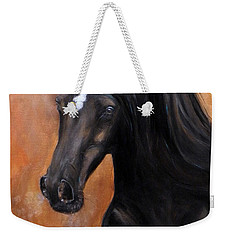 Weekender Tote Bag featuring the painting Horse - Lucky Star by Go Van Kampen