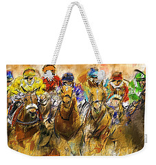 Horse Racing Abstract Weekender Tote Bag