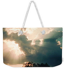 Weekender Tote Bag featuring the photograph Horse Rider In The Sky by Belinda Lee