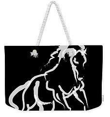 Horse White Runner Weekender Tote Bag