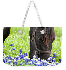 Horse With Bluebonnets Weekender Tote Bag
