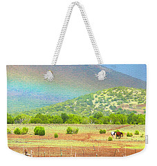 Horses At The End Of The Rainbow Weekender Tote Bag