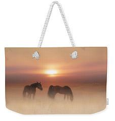 Horses In A Misty Dawn Weekender Tote Bag