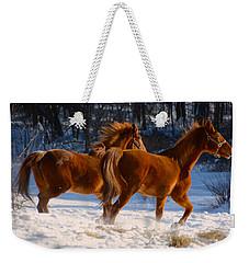 Horses In Motion Weekender Tote Bag
