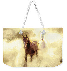 Horses Of The Mist Weekender Tote Bag by Greg Collins