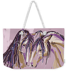 horses Purple pair Weekender Tote Bag