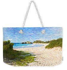Weekender Tote Bag featuring the photograph Horseshoe Bay In Bermuda by Verena Matthew