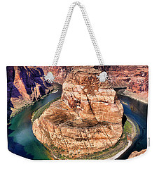 Weekender Tote Bag featuring the photograph Horseshoe Bend In Arizona by Mitchell R Grosky