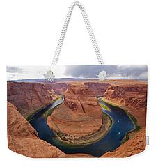 Horseshoe Bend View 1 Weekender Tote Bag by David Beebe