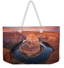 Horseshoe Dawn Weekender Tote Bag by Mike  Dawson
