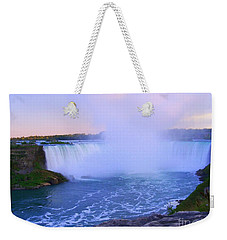 Horseshoe Falls Sunset In The Summer Weekender Tote Bag by Lingfai Leung