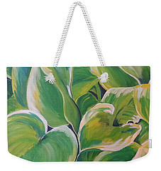 Hosta Garden Weekender Tote Bag