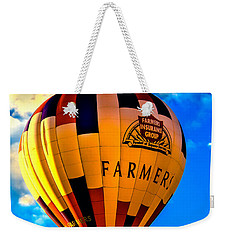 Hot Air Ballon Farmer's Insurance Weekender Tote Bag by Robert Bales