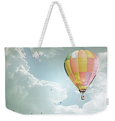 Hot Air Balloon Enchanted Clouds Weekender Tote Bag by Andrea Hazel Ihlefeld