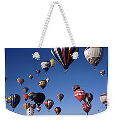 Hot Air Balloons Floating In Sky Weekender Tote Bag by Panoramic Images