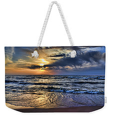 Hot April Sunset Saugatuck Michigan Weekender Tote Bag