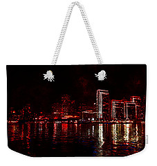 Hot City Night Weekender Tote Bag
