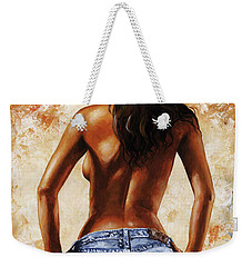 Hot Jeans 02 Blue Weekender Tote Bag