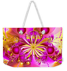 Weekender Tote Bag featuring the photograph Hot Orchid by Sylvia Thornton