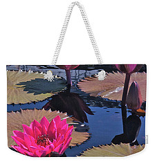 Hot Pink Tropicals Weekender Tote Bag