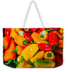 Hot Red Peppers Weekender Tote Bag