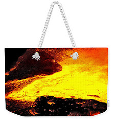 Weekender Tote Bag featuring the photograph Hot Rock And Lava by Pennie  McCracken