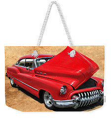 Hot Rod Buick Weekender Tote Bag by Victor Montgomery