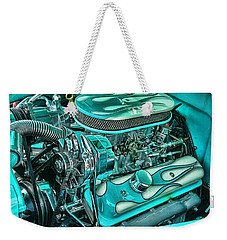 Weekender Tote Bag featuring the photograph Hot Rod Engine by Victor Montgomery