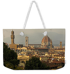 Hot Summer Afternoon In Florence Italy Weekender Tote Bag by Georgia Mizuleva