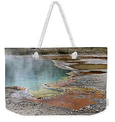 Weekender Tote Bag featuring the photograph Hot Water At Yellowstone by Laurel Powell
