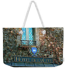 Hotel De La Cite Weekender Tote Bag by France  Art