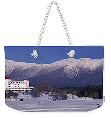 Hotel Near Snow Covered Mountains, Mt Weekender Tote Bag
