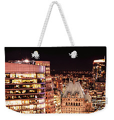 Weekender Tote Bag featuring the photograph Hotel Vancouver And Wall Center Mdccv by Amyn Nasser