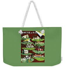 House & Garden Cover Illustration Of 9 Houses Weekender Tote Bag