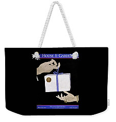 House And Garden Cover Illustration Of A Christmas Weekender Tote Bag