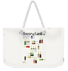 House & Garden Cover Of Paintbrushes Dripped Weekender Tote Bag