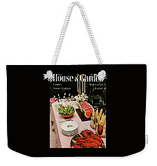 House And Garden Cover Featuring A Buffet Table Weekender Tote Bag