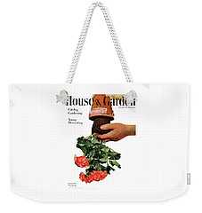 House And Garden Cover Featuring A Person Weekender Tote Bag