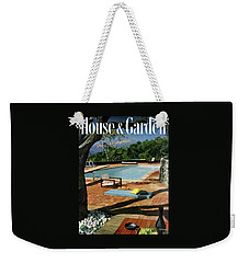 House And Garden Cover Featuring A Terrace Weekender Tote Bag